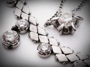プラチナ850 ダイヤモンドネックレス ダイヤ1.6ct