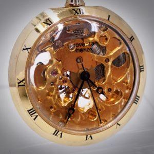 roventa henex 懐中時計 手巻き 17石 スイス ETA 両面スケルトン