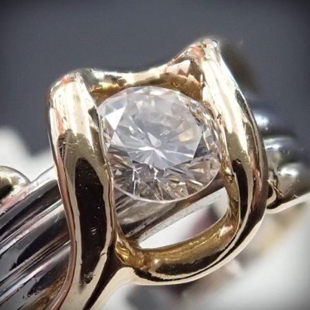 0.4ct ダイヤモンドリング K18/Pt900 コンビ