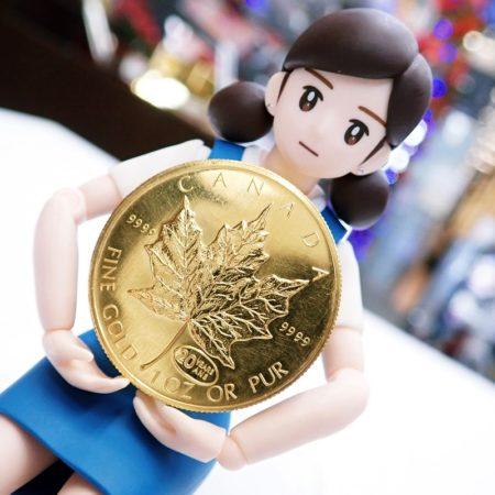 メイプルリーフ コイン 1オンス 金貨(K24)