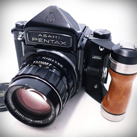 ASAHI PENTAX 6×7 中判カメラ ボディ + Super-Multi-Coated TAKUMAR 105mm F2.4
