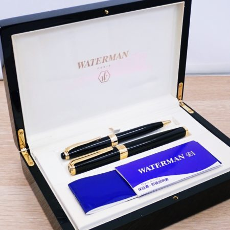 ウォーターマン 万年筆 IDEAL ペン先18K + ボールペン SEPIA 豪華ボックスセット