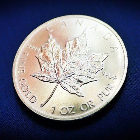 メイプルリーフ金貨 1oz(オンス) 31.1g ×3枚