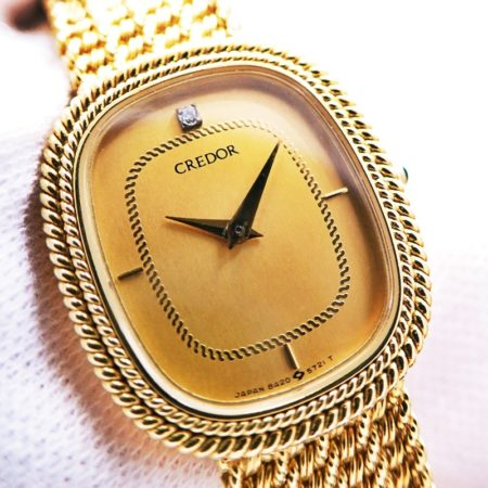 SEIKO CREDOR セイコー クレドール レディース 腕時計 クォーツ K18 金無垢