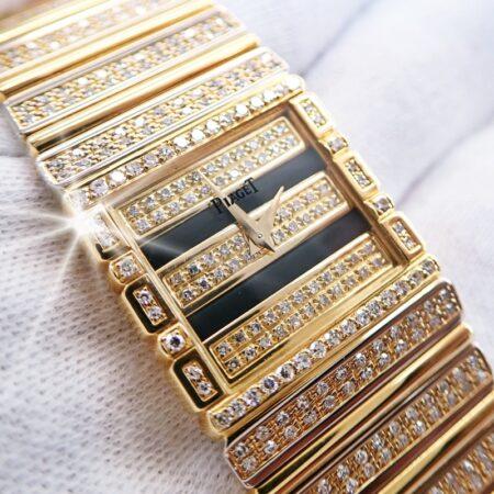 ピアジェ ポロ 7131 C725 K18 金無垢 フルダイヤモンド装飾 クォーツ