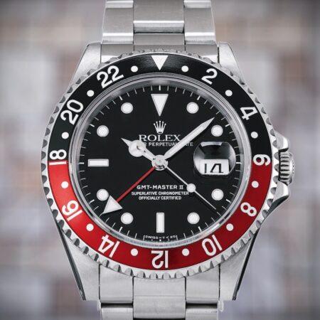 ロレックス GMTマスターⅡ 16710 W番 黒赤ベゼル