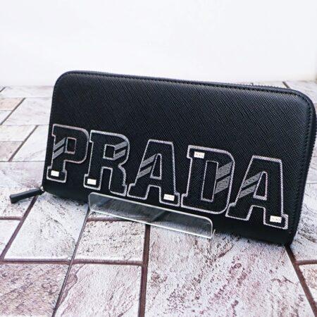 プラダ サフィアーノ レザー ラウンドジップ 2ML317 メンズ 長財布